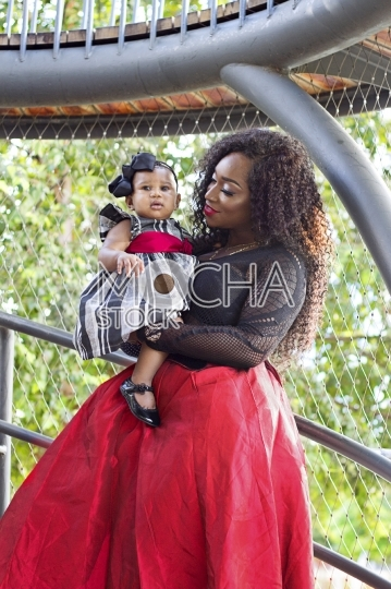 African American Mother with Baby