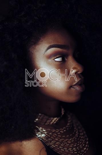 Beautiful African American Model (Black Background) 2