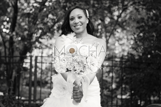 Beautiful African American Bride (Black and White)