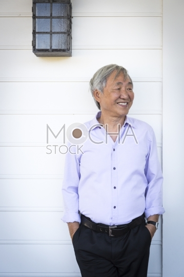 Attractive Older Chinese Man Portrait