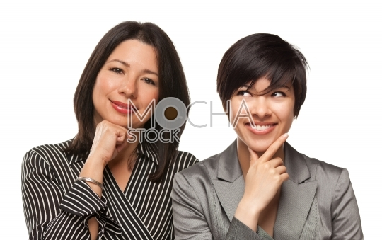 Attractive Multiethnic Mother and Daughter Portrait