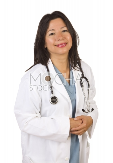 Attractive Hispanic Doctor or Nurse