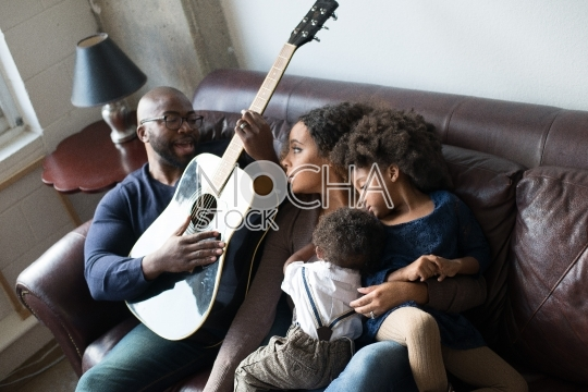 Young Family Enjoys Quality Time Together
