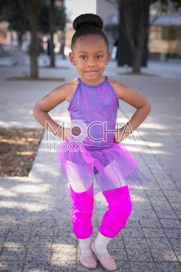 Little girl wearing tutu