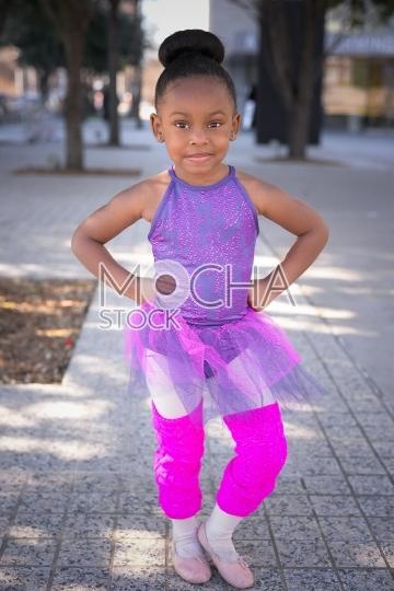 Little girl wearing tutu