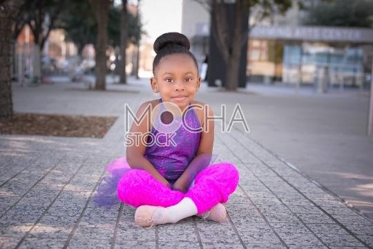Beautiful Young Dancer Smiles at Camera