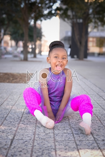 Adorable Little Ballerina Laughing