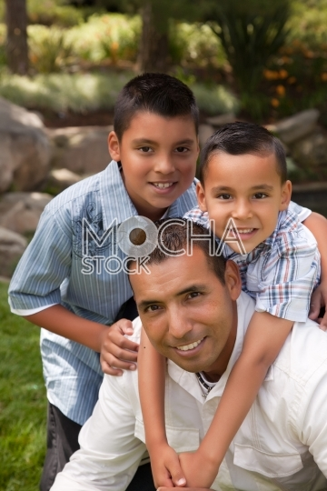 Father and Sons in the Park