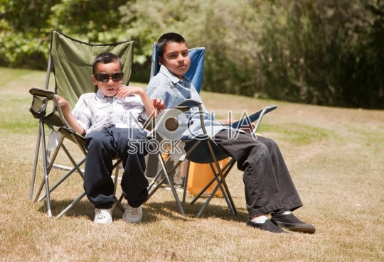 Two Hispanic Brothers at the Park