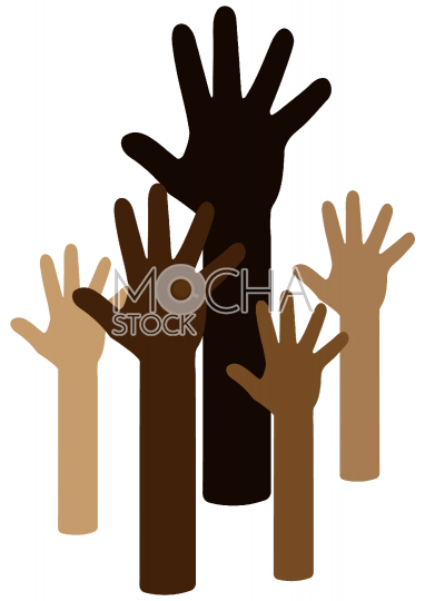 Diverse Hands Reaching for the Sky