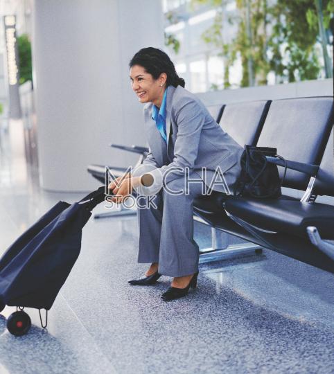 Happy Woman Traveler