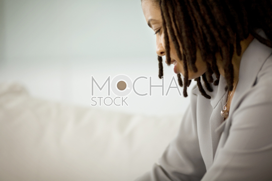 Young woman with locs